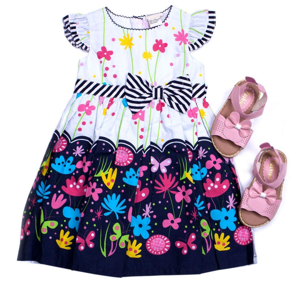 Váy hoa Thái Lan xinh xắn cho bé gái (2-6 tuổi)