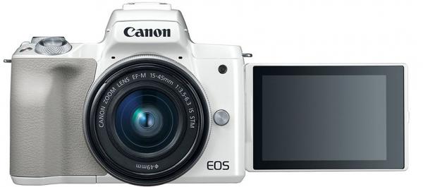Máy ảnh Canon EOS M50 + KIT 15-45MM trắng