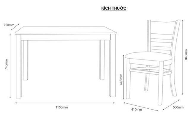 bàn ghế ăn 4 ghế