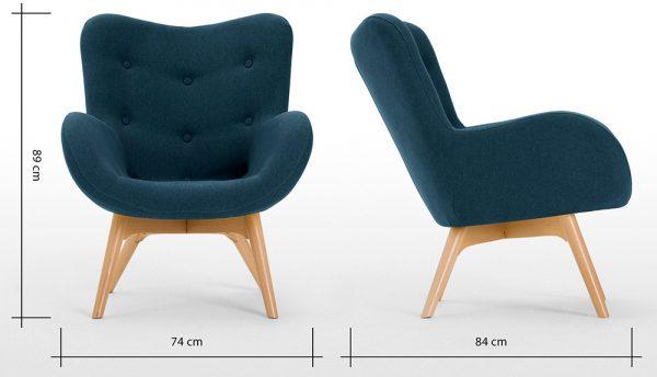 Ghế sofa đơn màu xanh ghi