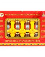 nước yến sào Khánh Hòa Sanet cao cấp hộp 8 lọ 70ml